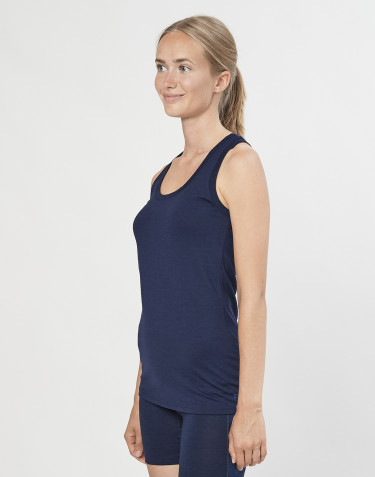 Women's exclusive organic merino wool tank top- Navy
