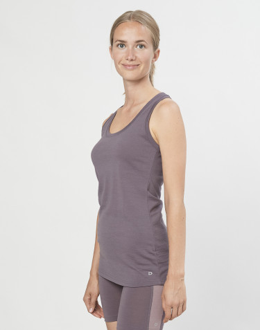 Women's exclusive organic merino wool tank top- lavender grey