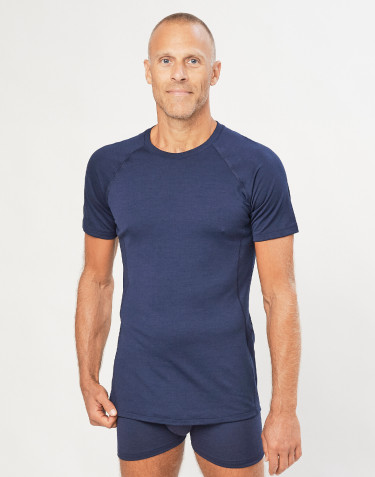 Men's exclusive merino wool T-shirt- navy