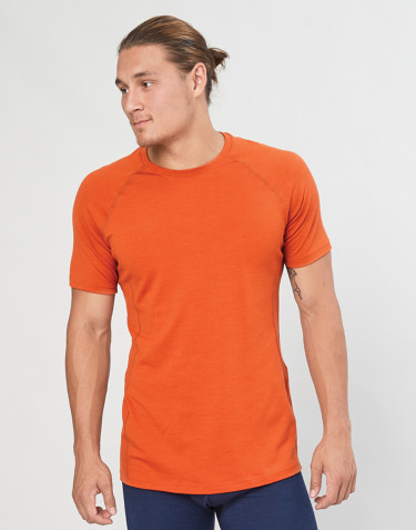 Men's exclusive merino wool T-shirt- orange