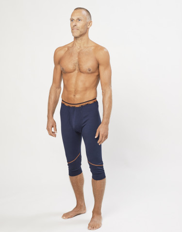 Men's exclusive organic merino short leggings- Navy