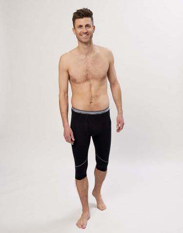 Men's exclusive organic merino short leggings- Black