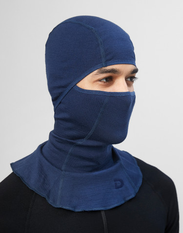 Men's exclusive organic merino wool balaclava- Dark Blue