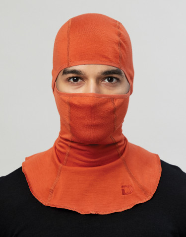 Men's exclusive organic merino wool balaclava- Orange