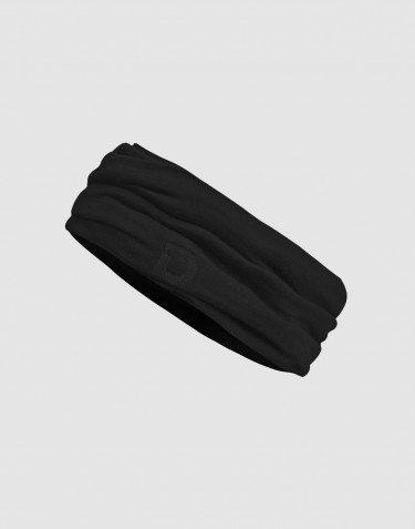 Men's exclusive merino wool neckwarmer- black