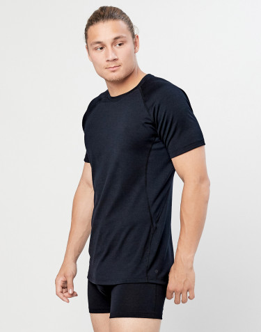 Men's exclusive merino wool T-shirt- black