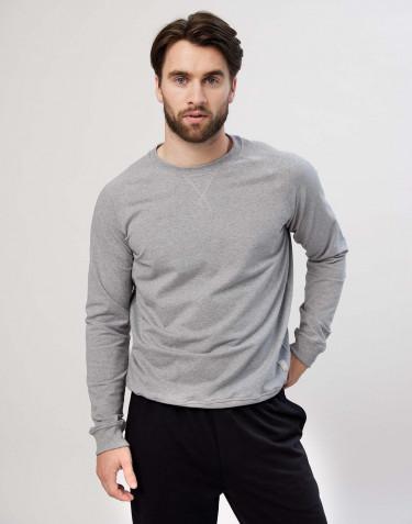 Men's cotton sweatshirt- grey melange