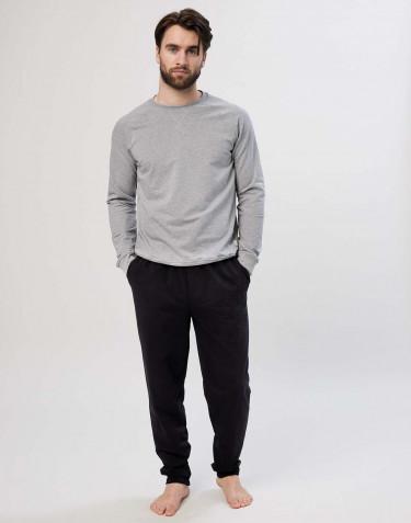 Men's cotton jogging bottoms- black