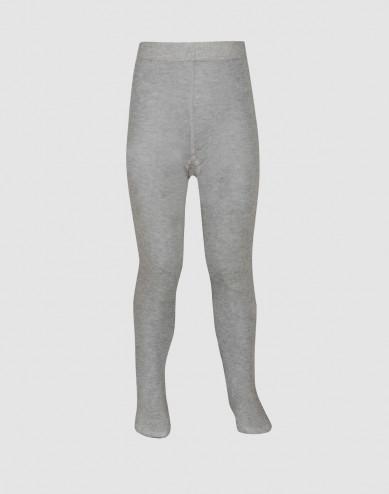 Baby organic cotton tights- Grey melange