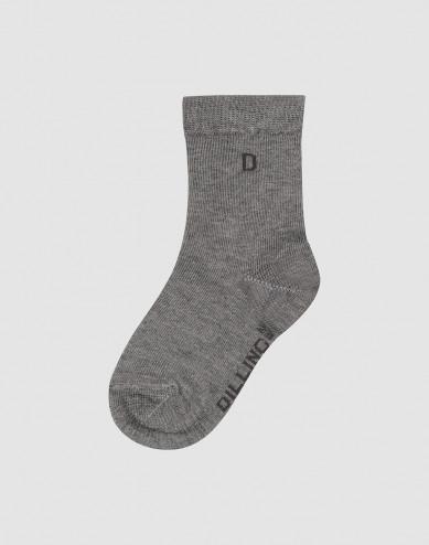 Children's organic cotton socks- Grey melange