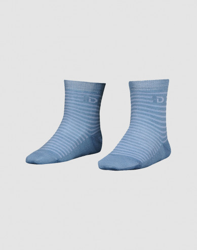 Children's organic merino wool socks- dove blue