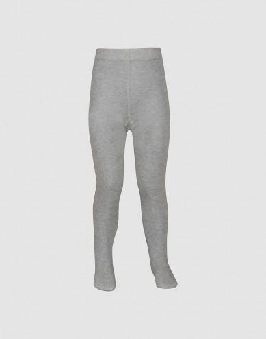 Children's organic cotton tights- Grey melange