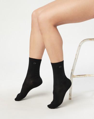 Women's organic merino wool socks- black