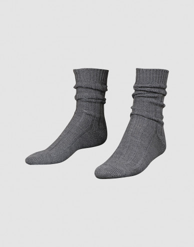 Cozy wool socks for men dark grey mélange