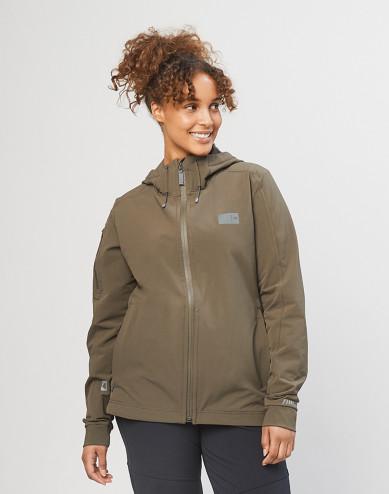 Women's softshell jacket - Olive green