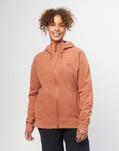 Women's softshell jacket - Copper brown