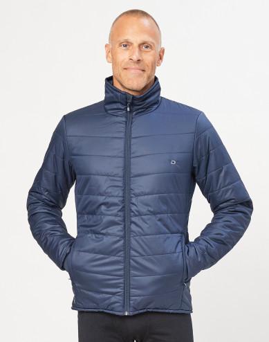 Men's recycled polyester/ merino wool outdoor jacket- dark blue
