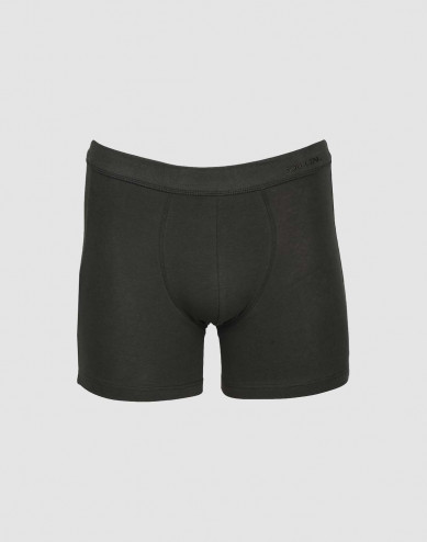 Men's cotton boxer shorts- green