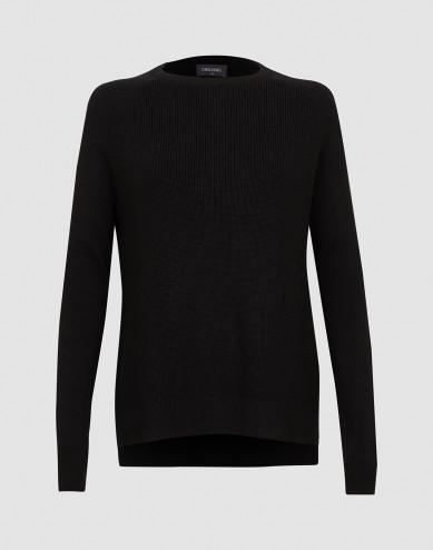 Women's knitted sweater- Black