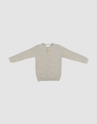 Children's knit sweater- Grey melange