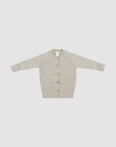 Baby knit cardigan- Grey melange