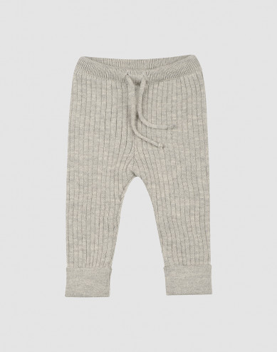 Baby knit trousers- Grey melange