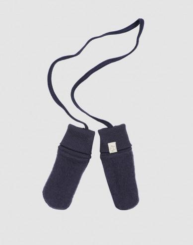 Baby merino wool fleece mittens- Blue