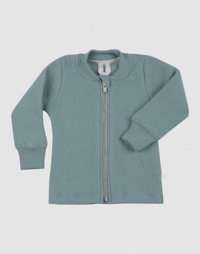 Baby merino wool fleece jacket