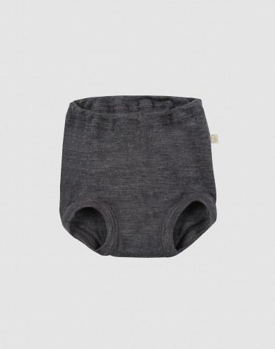 Baby merino wool briefs- grey melange