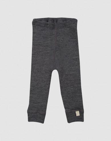 Baby organic merino wool long johns- grey melange
