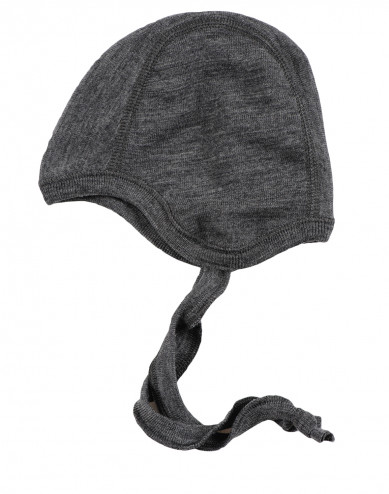Baby organic merino wool hat- grey melange