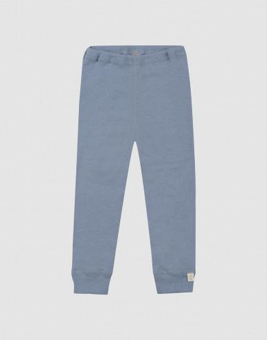 Baby merino wool leggings- Blue
