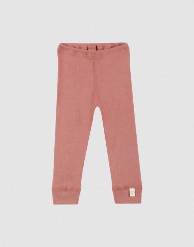 Baby merino wool leggings- Pink