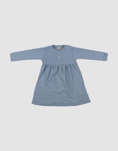 Baby merino wool dress- Blue