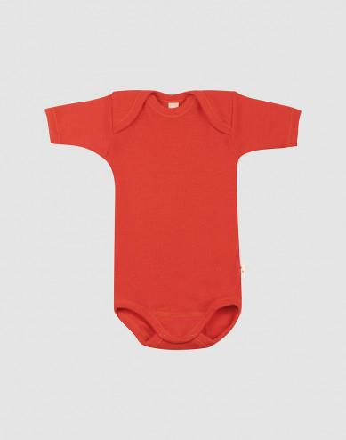 Baby merino wool short sleeve bodysuit