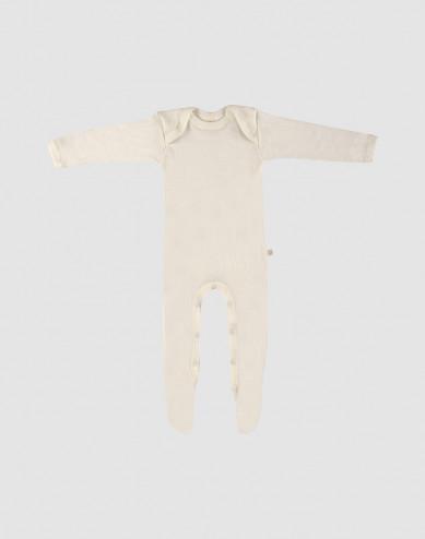 Baby merino wool sleepsuit- nature