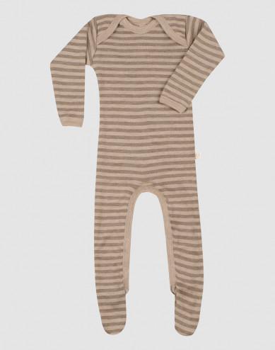 Baby merino wool sleepsuit