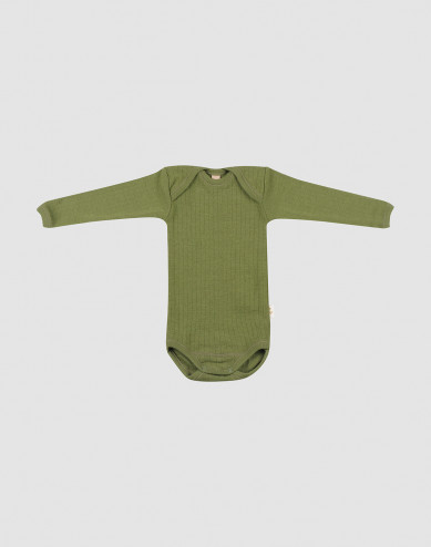 Baby merino wool long sleeve bodysuit
