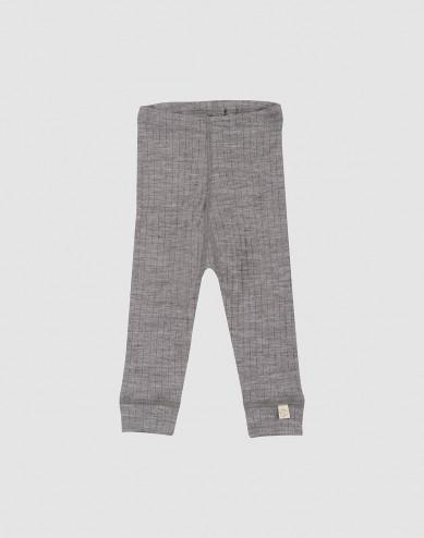 Baby ribbed leggings- grey melange