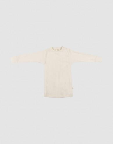Baby wide rib merino sweater- Nature