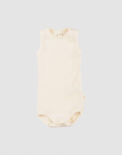 Baby merino wool sleeveless bodysuit