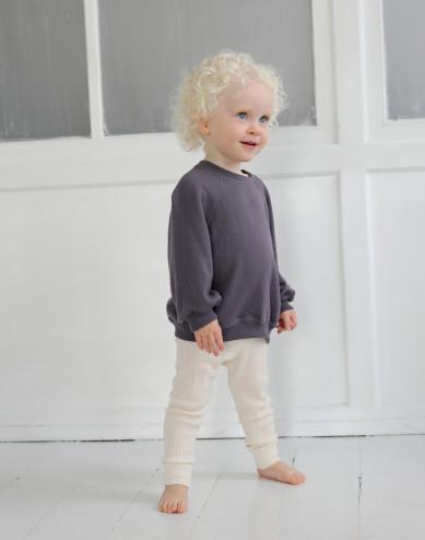 Baby wool terry sweatshirt with wide sleeves