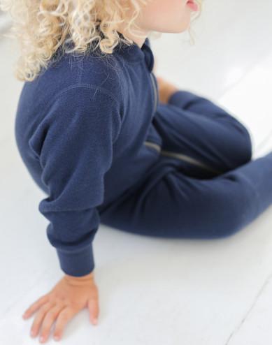 Baby wool terry full-length bodysuit