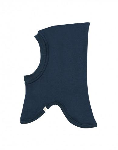 Baby wool terry hat- dark petrol blue