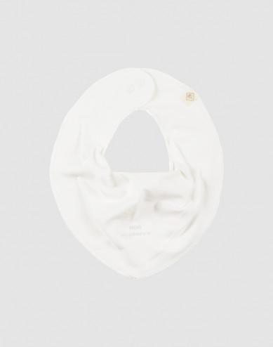 Baby natural cotton bib- white