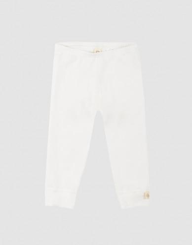Baby natural cotton leggings- white
