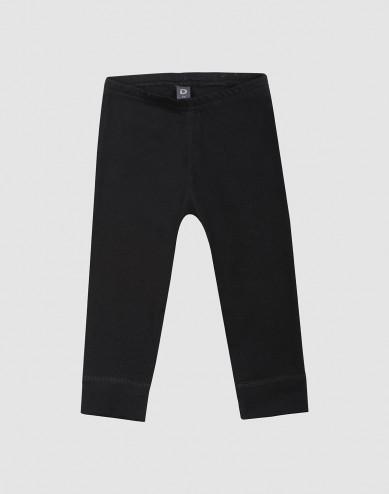 Baby organic cotton leggings- Black