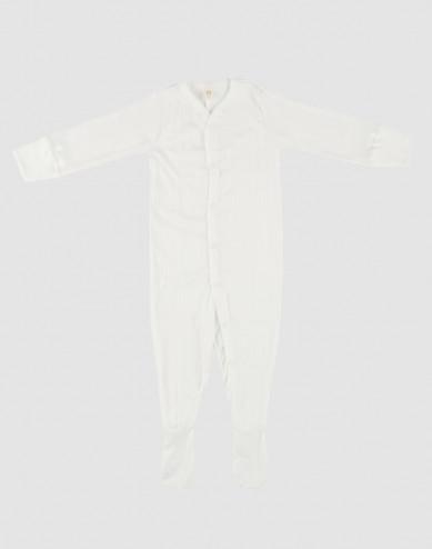 Baby organic cotton sleepsuit- white