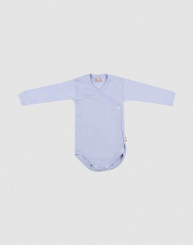 Baby merino wool/silk wrap bodysuit