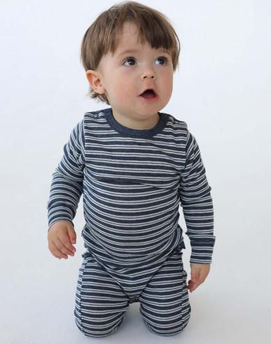 Baby merino wool/silk one-piece